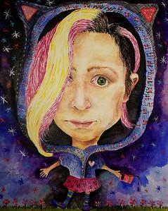 """Self"" (acrylic) by Jennifer Carberry-Landis"