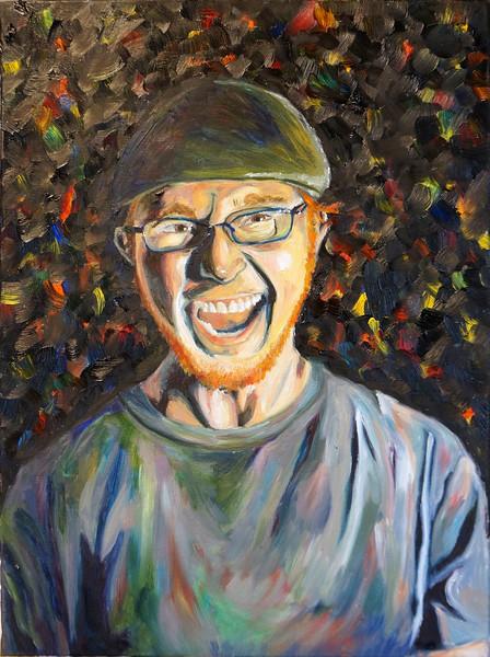"""Tim"" (oil on canvas) by Janelle Crocker-Krause"