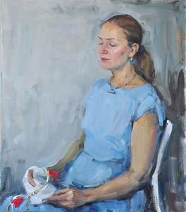 """""""Prayer"""" (oil on canvas) by Yaroslava Tichshenko"""