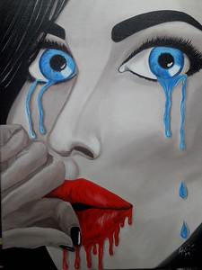 """I fear I do"" (oil on canvas) by Adriana Calichio"