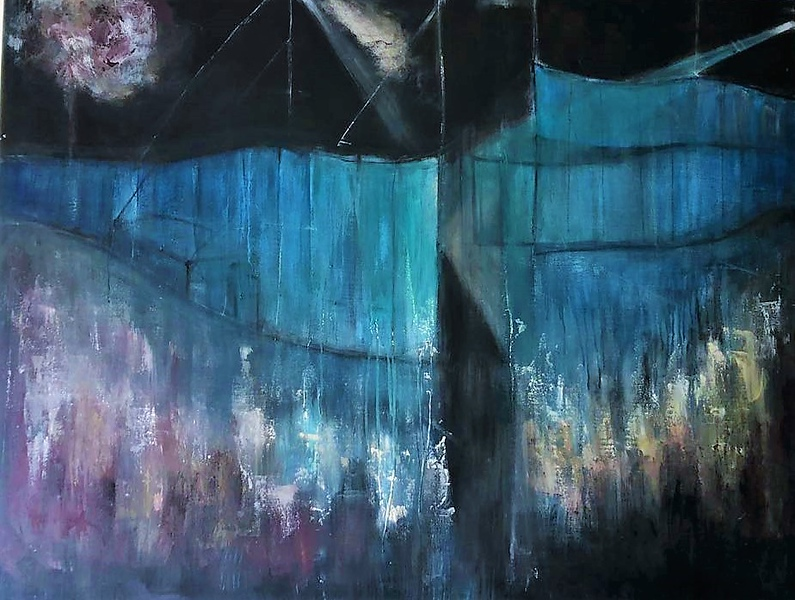 """Wet Space"" (acrylic on canvas) by Elsa Salinas-Olle'"