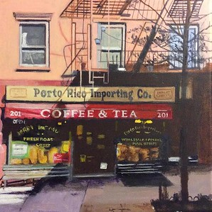 """Porto Rico On Bleecker"" (acrylic on canvas) by Elliot Appel"