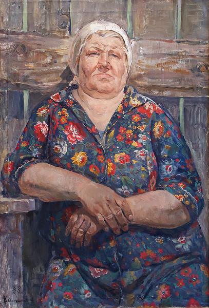 """""""Portrait of E.M.Bulankinoi"""" (oil on canvs) by Alexandr Kaporushkin"""