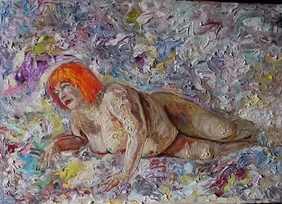 """Danae"" (oil on canvas) by Margarita Makarova"