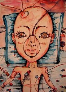 """""""Modern Education"""" (mixed media) by Maria Knyazeva"""
