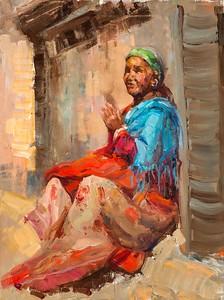 """Sunlit Prayer"" (oil on canvas) by Laurie Elizabeth McKinley"