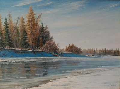 """First Ice"" (oil on canvas) by Igor Osipov"