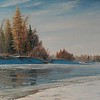 """First Ice"" (oil on canvas) by Igor Osipov"