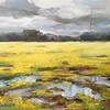 """Mud and Buttercups"" (oil on canvas) by Susan Duke Waters"