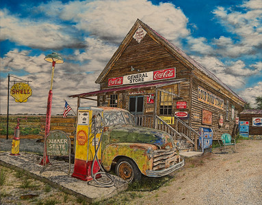 """The General Store"" (oil) by Sandra Burm"