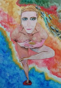"""""""In dance"""" (oil) by Ekaterina Kudryashova"""