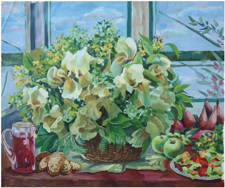 """Gentle noon"" (oil on canvas) by Aleksandra Samartseva"