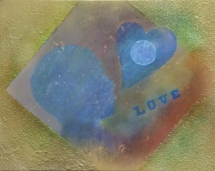 """""""Lunar Love"""" (various paints) by Sarah Illyes Frost"""