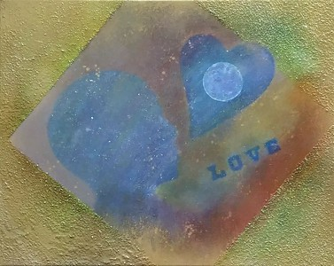 """Lunar Love"" (various paints) by Sarah Illyes Frost"