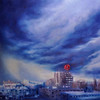 """Stormy Boh"" (acrylic on canvas) by Caroline Brown"