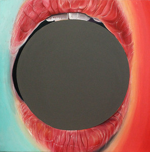 """Hole"" (acrylic on canvas) by Young Ju Lee"