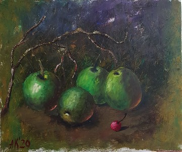 """""""The cherry"""" (oil) by Krieger Antonina"""