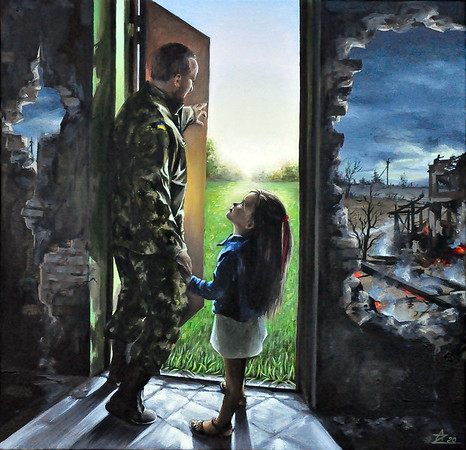 """""""belief in tomorrow"""" (oil) by Anna Zigel"""