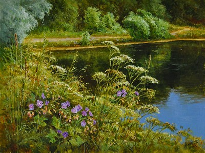"""""""Luxary of the landscape"""" (oil on canvas) by Alexey Anikin"""