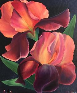 """""""Irises"""" (oil on canvas) by Aliya Bezrukova"""