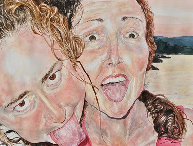 """Surprise!"" (watercolor) by Steffi Colao"