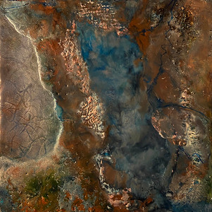 """The Deep Season"" (encaustic on birch panel) by Hall Jameson"