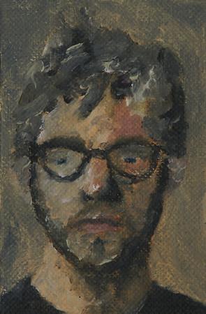 """""""Self Portrait"""" (oil) by Jason Dorler"""