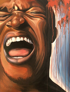 """Shot"" (acrylic) by Megan Goers"