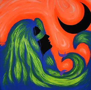 """Devotion"" (acrylic on canvas) by Harrison Ernst"