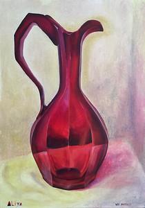"""Ruby jug"" (oil on canvas) by Aliya Bezrukova"