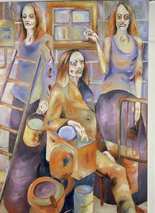 """A Fresh Coat of Paint"" (oil on canvas) by Michael Hemphill"