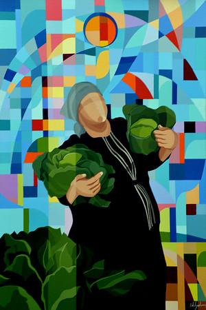 """""""Harvesting"""" (acrylic) by Paulo Delgado"""