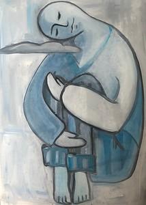 """DREAMING"" (oil on canvas) by Maria Danilenko"