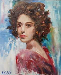 """Spring of life"" (oil) by Krieger Antonina"