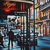 """New Orleans Street Scene"" (oil on canvas) by Eric Li"