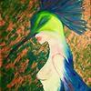 """""""Mask"""" (acrylic on canvas) by Elena Bast Miliaeva Goddess"""