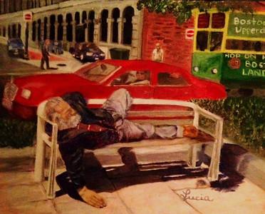 """""""Boston Sun"""" (Oil on Raymar cotton canvas panel) by Lucia Balinbin"""