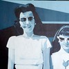 """Retro #4 Me and Mom"" (acrylic and canvas) by Laurie Rosenberg"