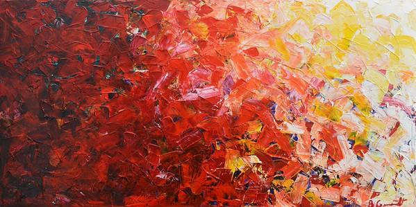 """The Battle"" (acrylic) by Barton Gernandt"