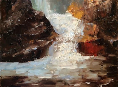 """Lower chasm"" (oil) by Mabe Collins Brown"