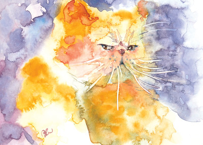 """What's up?"" (watercolour) by Perry Chow"