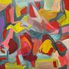 """Fragments"" (acrylic on canvas) by Rosemari Golledge"