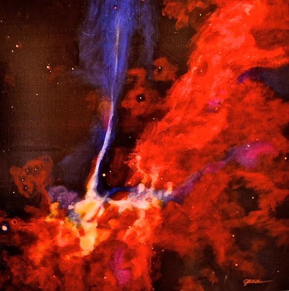 """Blast Wavre from a Supernova"" (acrylic on canvas) by Jim Ellis"