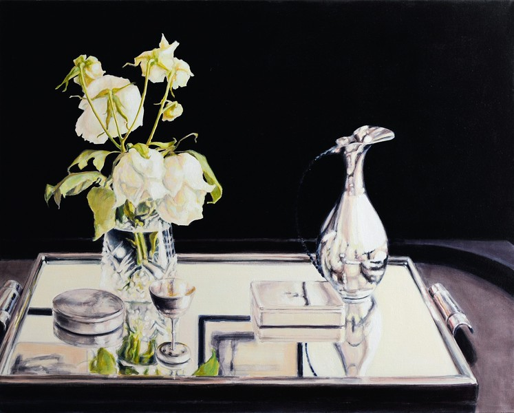 """""""Short Story in Three Colours IV"""" (oil on canvas) by Asta Caplan"""