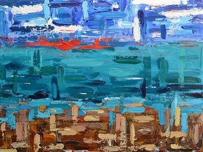 """Seascape"" (acrylic) by Barton Gernandt"