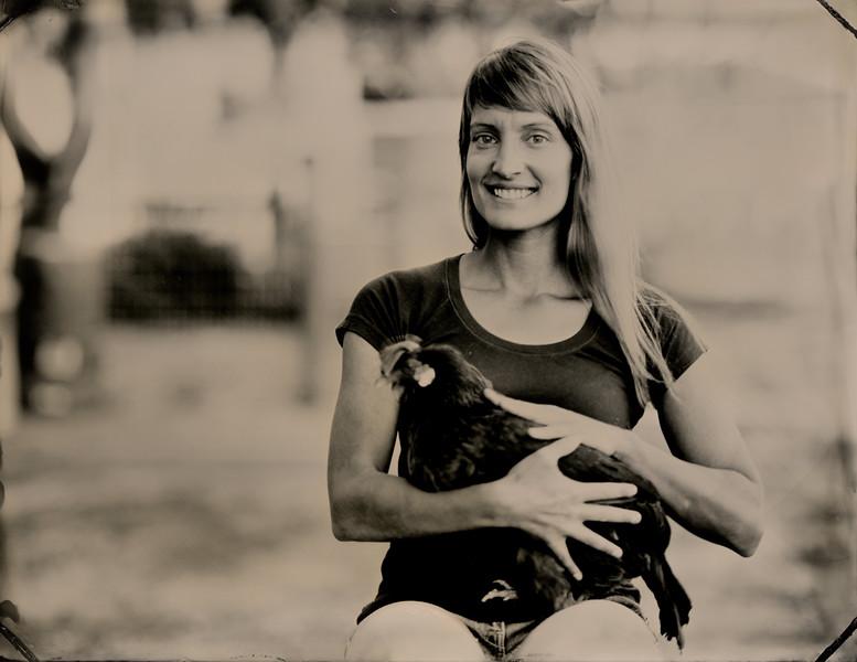 Liza Kahn, Volunteer Coordinator, Orland Farm Sanctuary. Charlottesville, VA.
