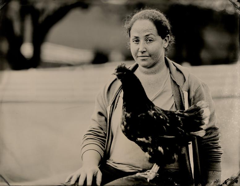 Zeya Wagner, Animal caregiver, Charlie's Acres Sanctuary. Sonoma, CA.