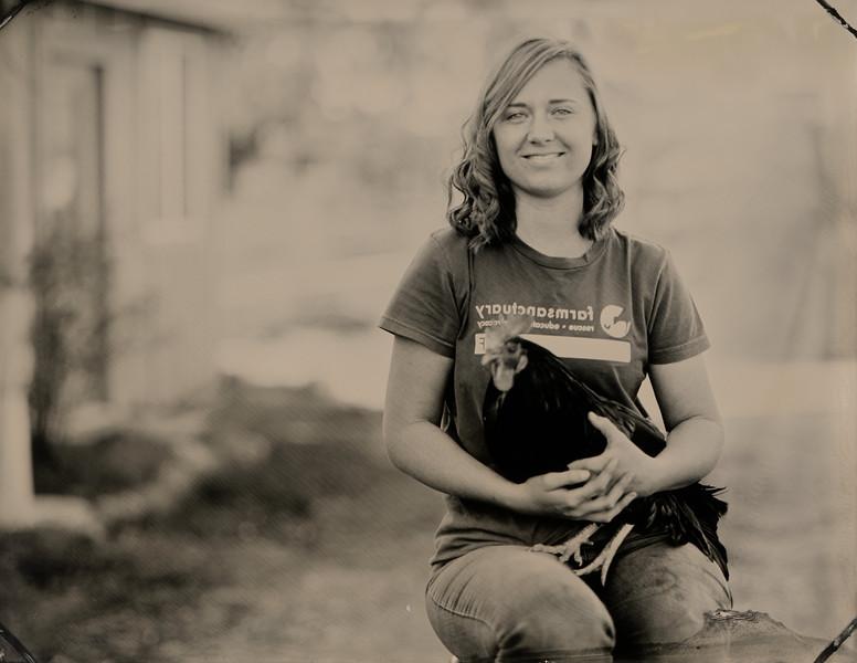 Sierra Sundseth with Ahmed, Animal Caregiver, Farm Sanctuary. Orland, CA