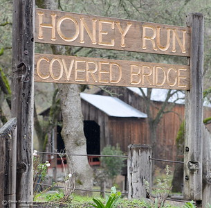 A slow yet steady drizzle is seen at the Honey Run Covered Bridge in Chico, Calif. Tuesday Dec. 13, 2016. More rain is expected Wednesday. (Bill Husa -- Enterprise-Record)