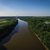 """Wabash River HRI conservation area, looking upriver from Ft Harrison.  HRI property on the right """"fox"""""""